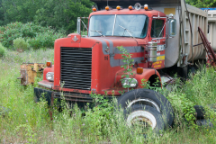 Red Truck with Tires